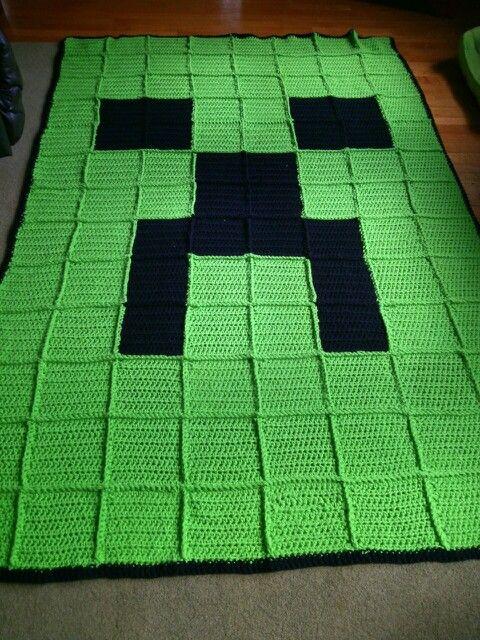 Crochet Minecraft blanket | crochet | Pinterest | Manta, Cobija y ...