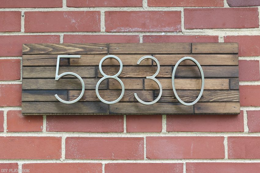 How to DIY a Modern  Affordable Address Plate for Outside your