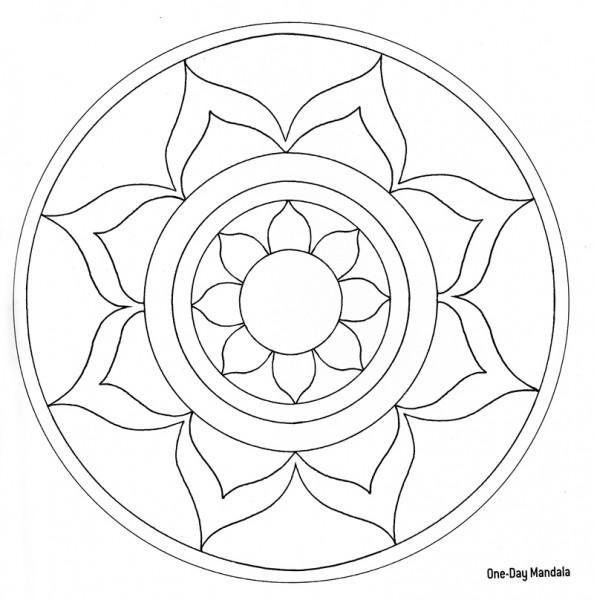 Blank Coloring Page Mandala