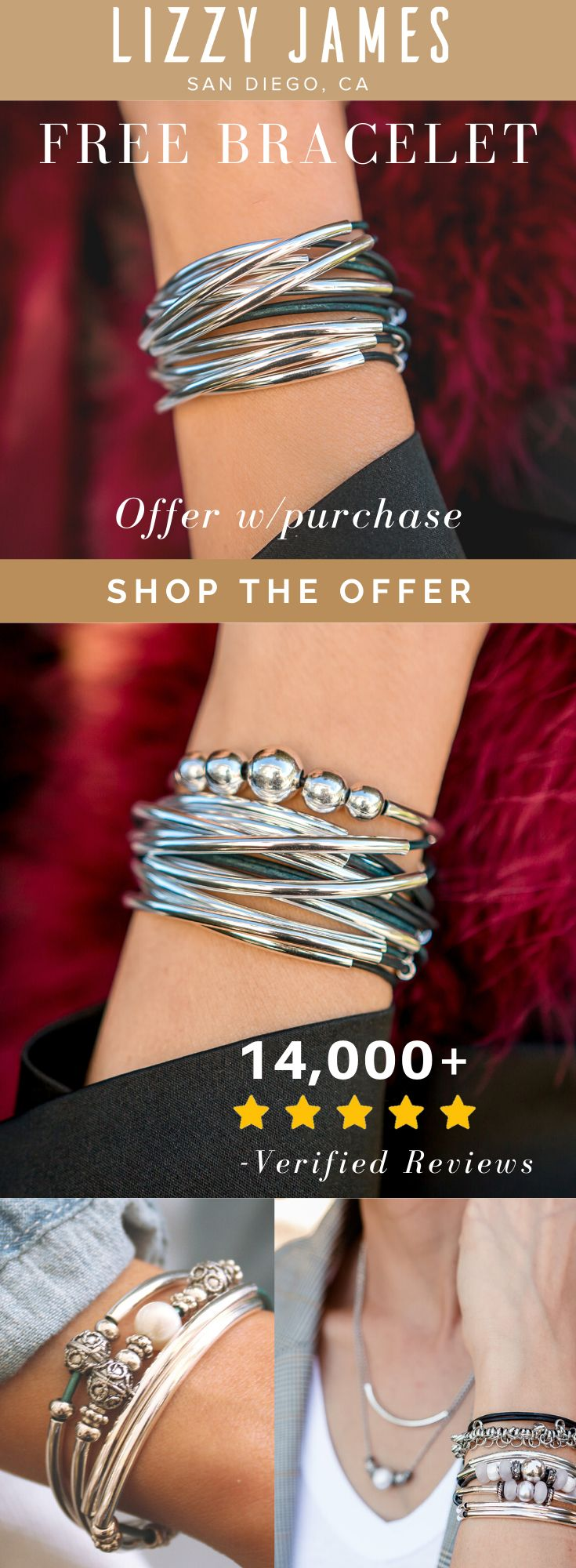 Free Lizzy Classic 4 Strand Bracelet Offer