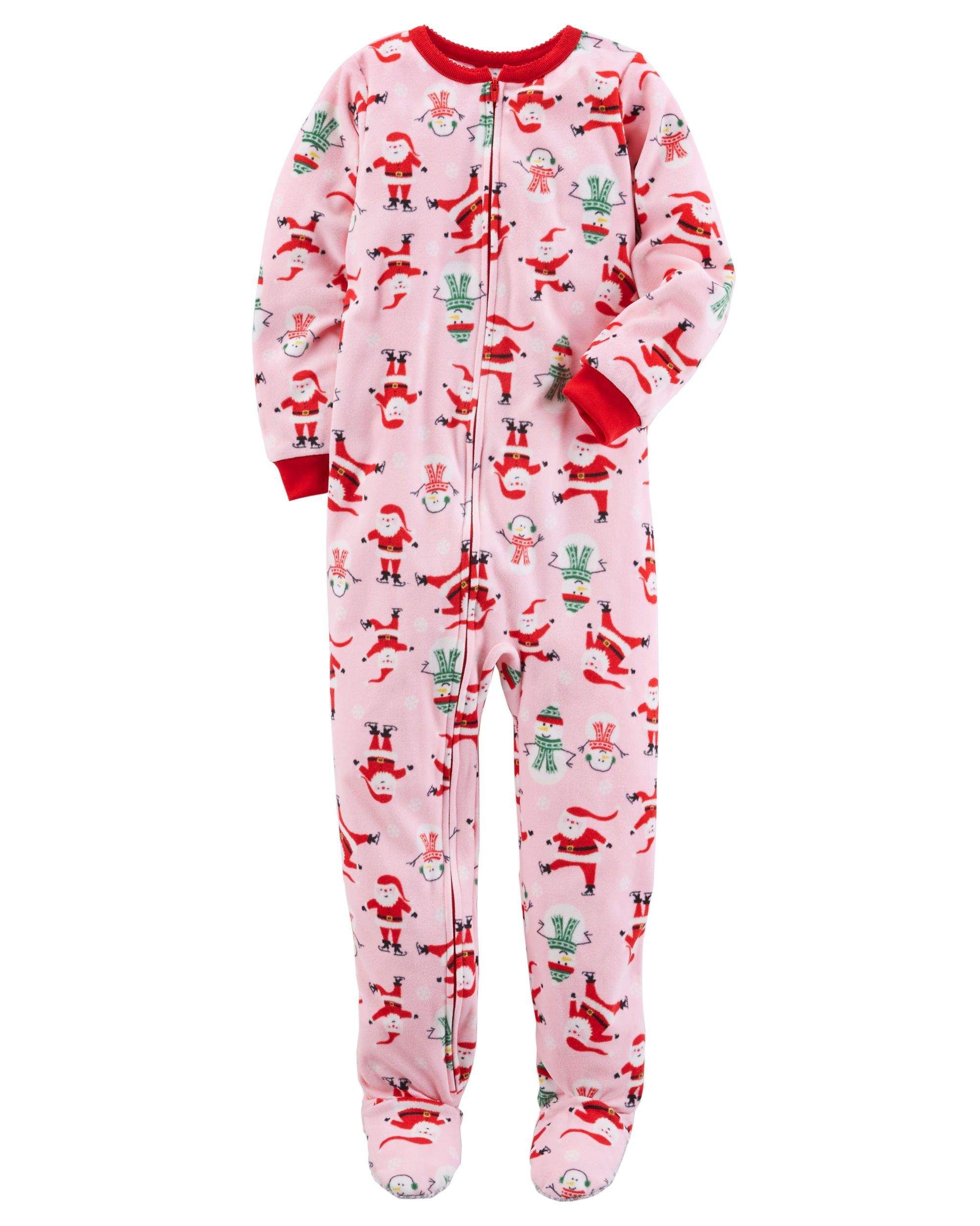 76d36f9728 Baby Girl 1-Piece Christmas Fleece PJs
