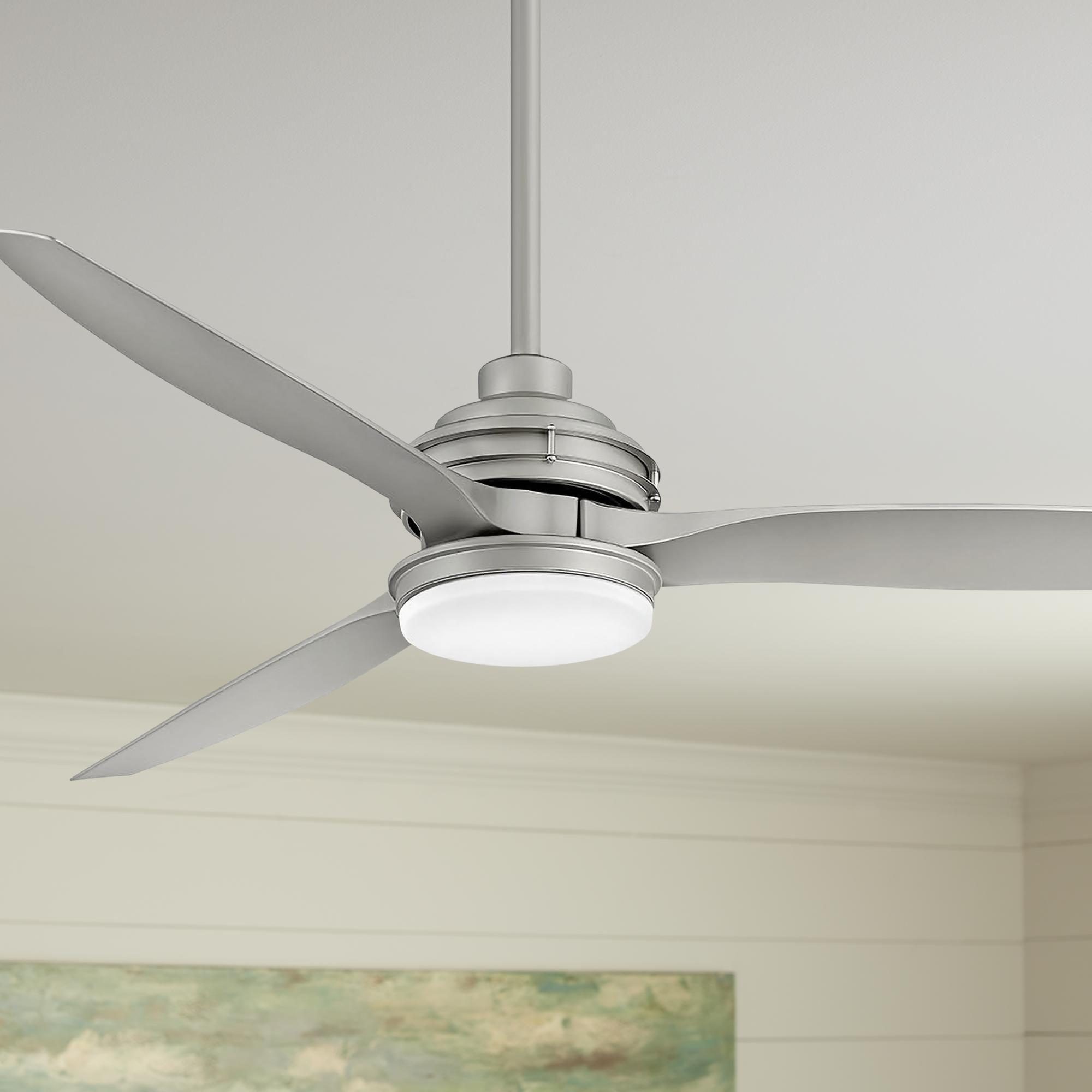 60 Inch Hinkley Artiste Brushed Nickel Led Wet Rated Ceiling Fan