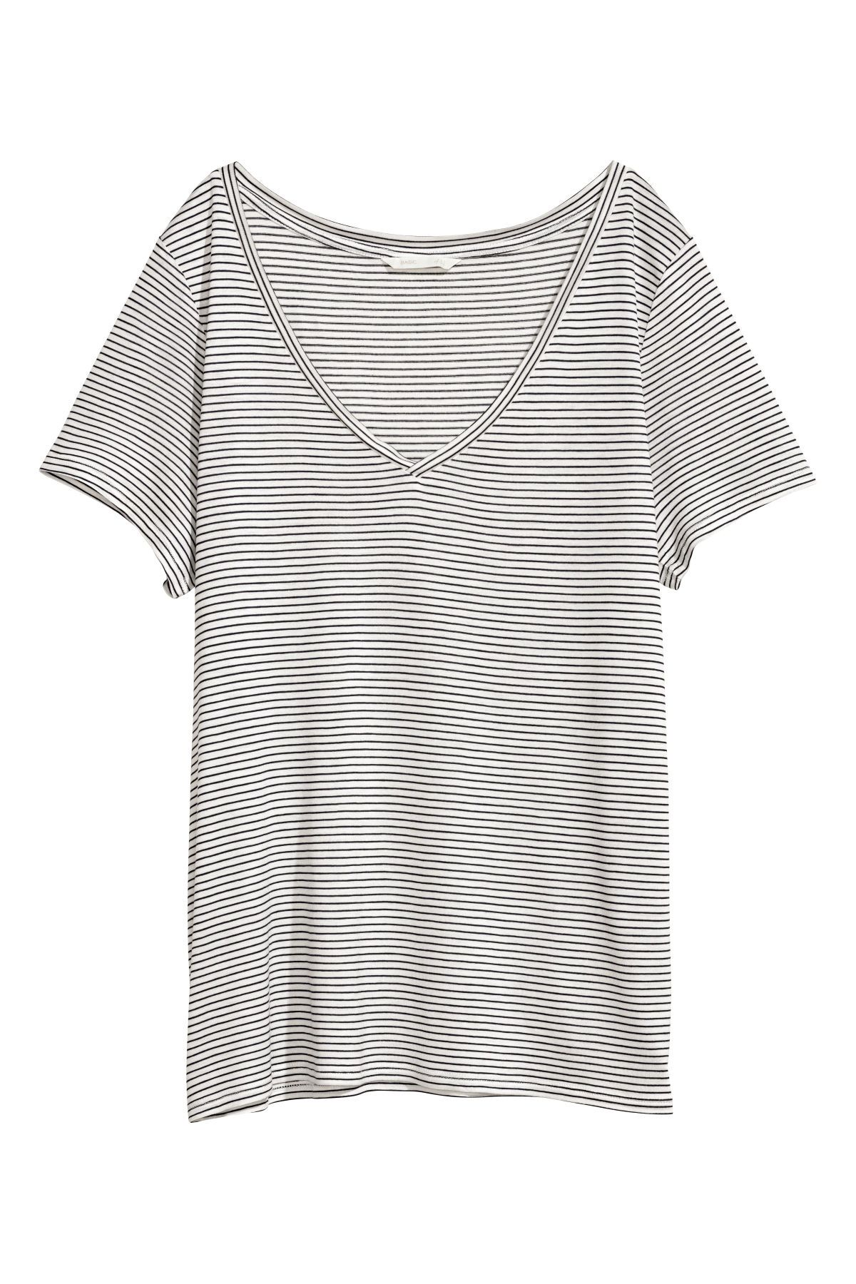 b76c2dc818 White Blue striped. Soft viscose jersey T-shirt in a slightly wider style