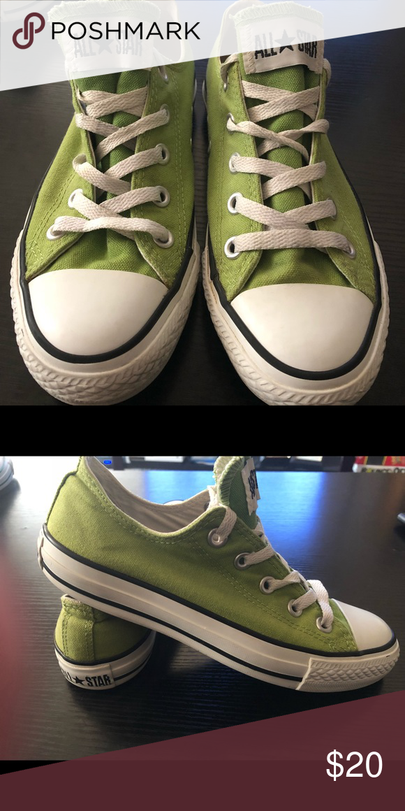 fd399cf972e1 Lime green Converse Converse All-Star sneakers...size 4 (fits women size 6)  Gently used and great condition Lime Green- 20 Converse Shoes Sneakers