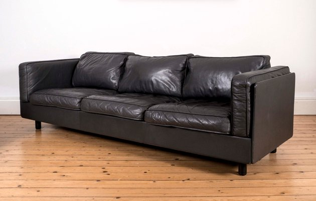 Vintage Italian Leather Sofa From Zanotta 1980s For Sale At Pamono In 2020 Italian Leather Sofa Leather Sofa Vitra Design