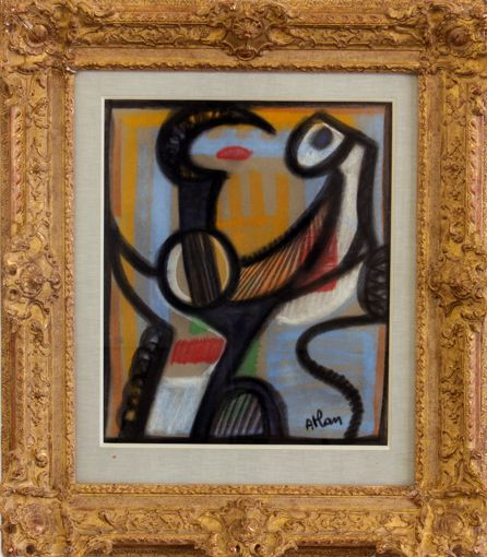 Jean-Michel Atlan (1913-1960) Untitled 1956 Pastel on paper 67.5 x 57 cm