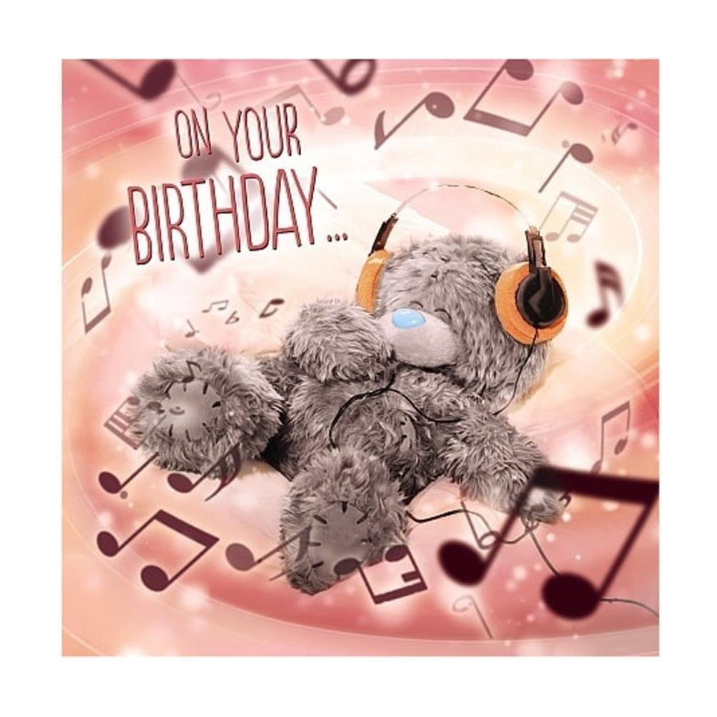 3 49 Gbp Me To You On Your Birthday Headphones 3d Hologram Birthday Card Tatty Teddy Bear Ebay Home Garden Tatty Teddy Happy Birthday Cards Teddy
