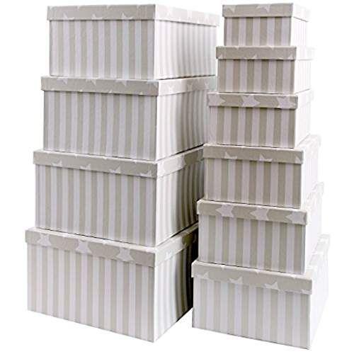 BRANDSSELLER Geschenkbox Aufbewahrungsbox Kartenkarton mit Deckel - handtuchhalter für küche