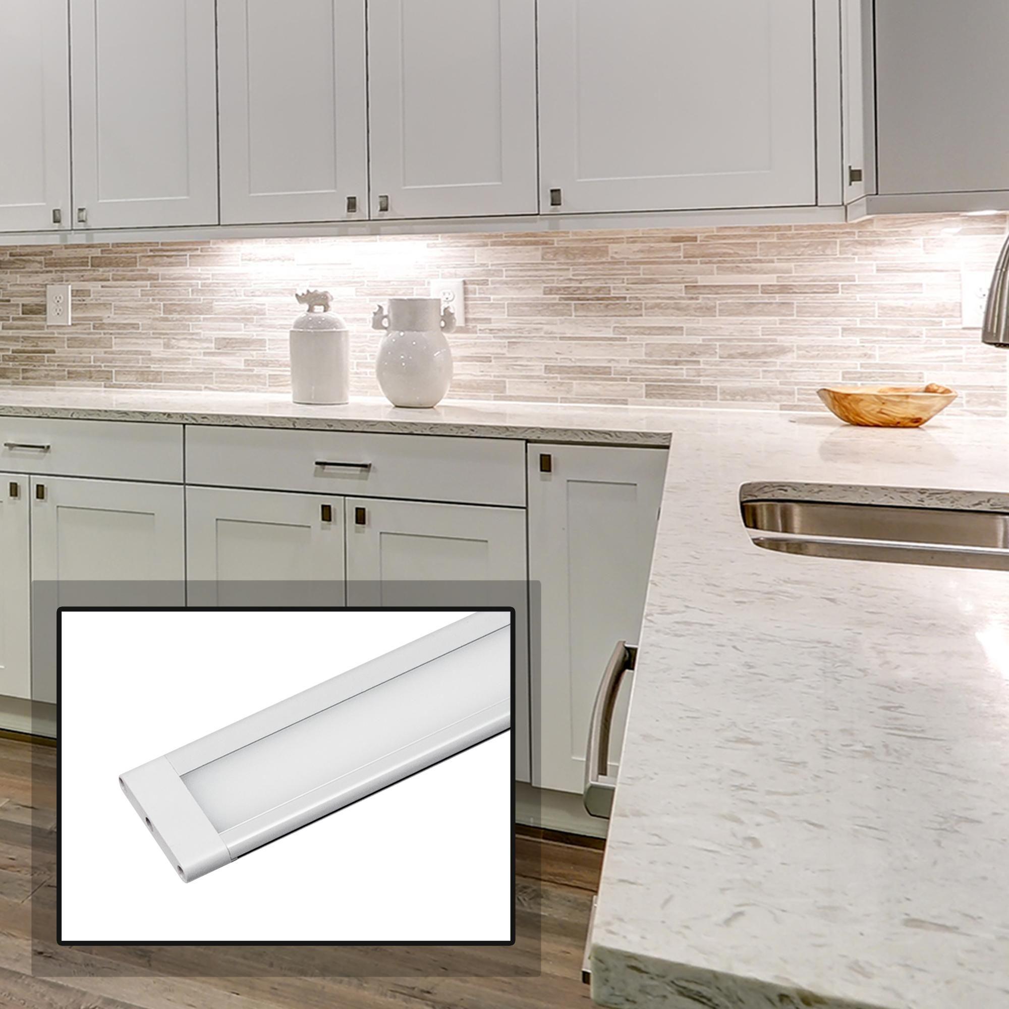 Slimedge 8 Inch W White 3000k Led Under Cabinet Lt With Images Light Kitchen Cabinets