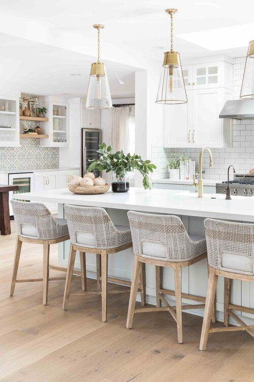 Modern Coastal Decorating Ideas For Your Home Jane At Home In 2020 Gorgeous White Kitchen Kitchen Design Kitchen Remodel
