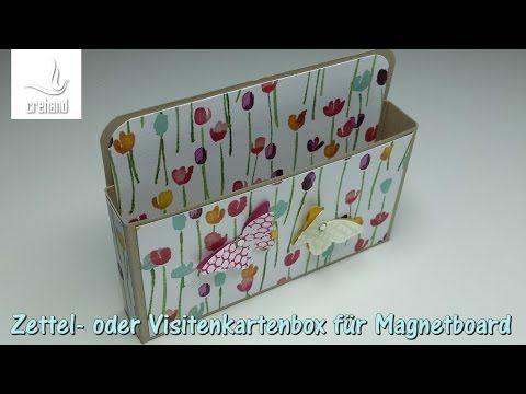Zettel Oder Visitenkartenbox Für Magnetboard Mit Stampin