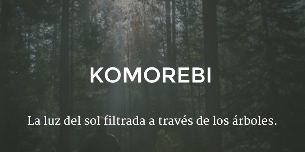 Komorebi la luz del sol filtrada a trav s de los rboles for Significado de la palabra arbol