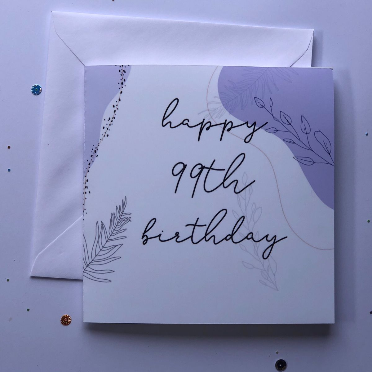 Happy 99th Birthday Happy Birthday Birthday Card Card Happy Birthday Card Etsy Floral Cards Design Happy Birthday Cards Happy Birthday Card Design
