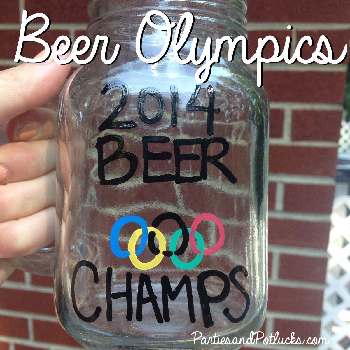 Beer Olympics Beer olympic, Beer olympics party, Team