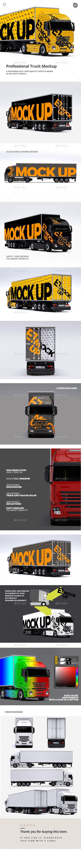 Truck Mockup | Mockup, Trucks and Vehicle wraps