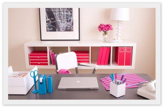 gorgeous organized desk set up via see jane work bureau pinterest bureau chambre de et. Black Bedroom Furniture Sets. Home Design Ideas