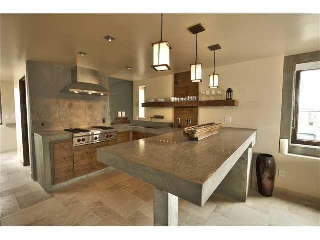 isla de concreto hogar Pinterest Cocinas, Cemento y Cemento pulido
