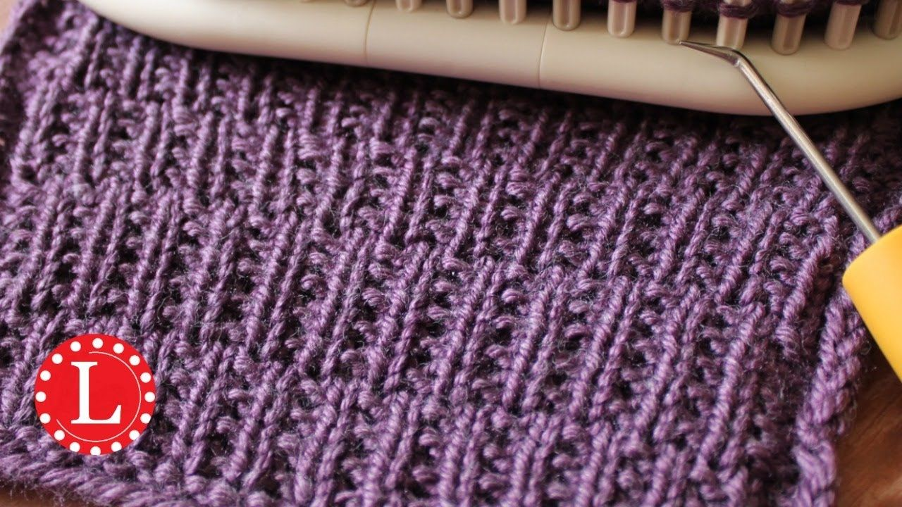 Loom knitting stitch patterns the rambler loomahat loom rambler stitch on any knitting loom beginner easy knit and purl pattern and step by step video great for any project boy or girl bankloansurffo Image collections