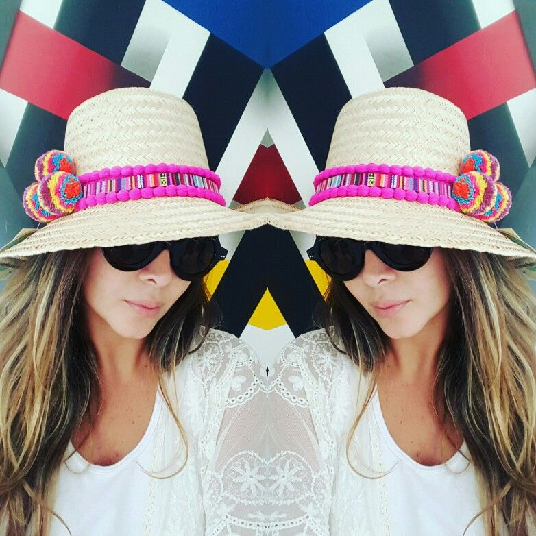 f90a529526b42 SOMBRERO WAYUU DECORADO❤beautiful hat decorated with weave Wayuu ♡ sombrero  de paja decorado con