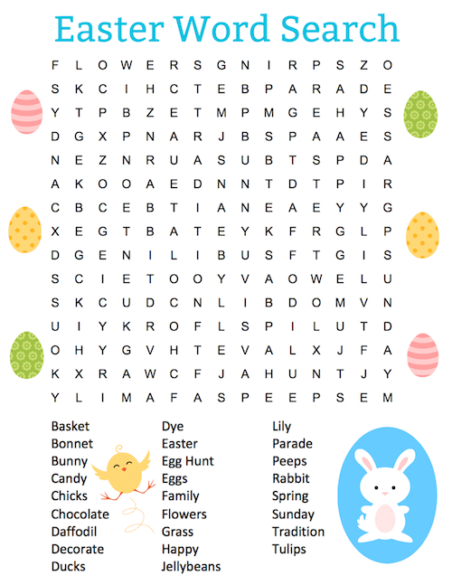graphic relating to Free Printable Easter Word Search called This free of charge printable Easter term appear puzzle. It contains