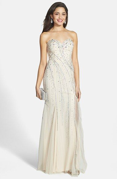 Sean Collection Embellished Strapless Gown available at #Nordstrom ...