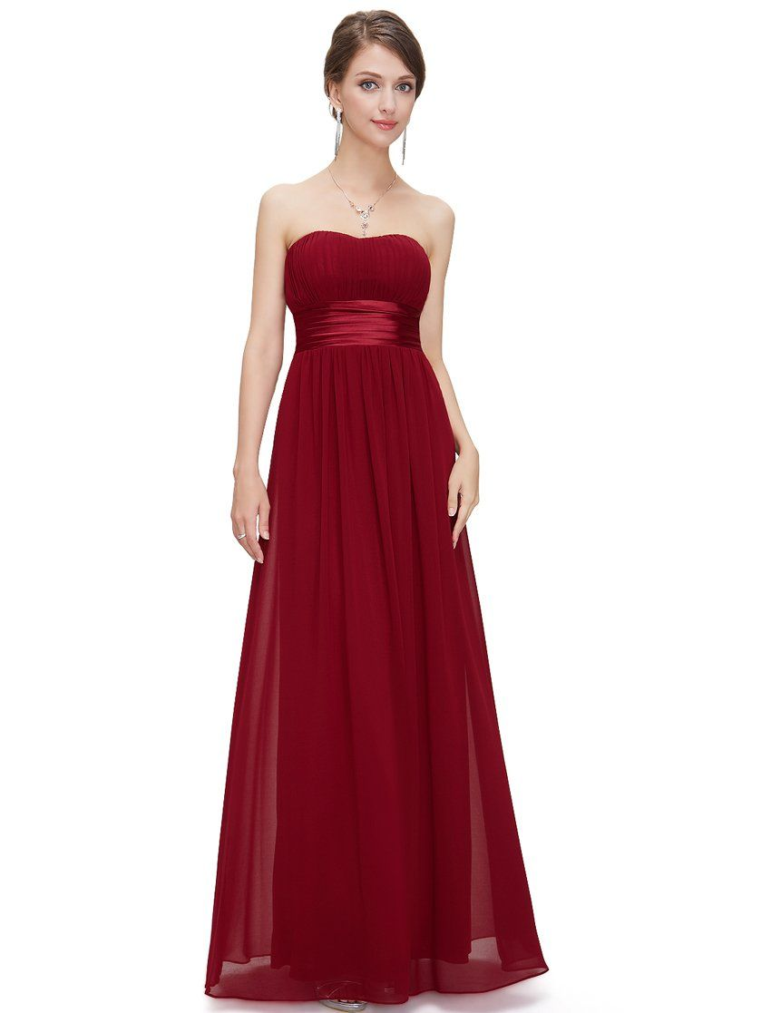 Ever pretty womenus strapless ruched bust chiffon long evening dress