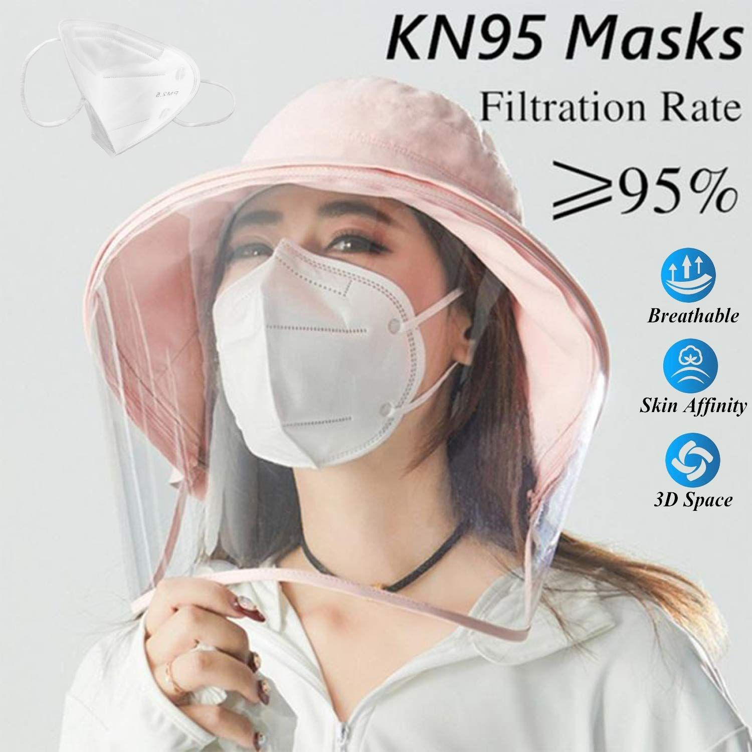 KN95 Masks Anti PM2.5 Activated Carbon Filter Protective Filter ...