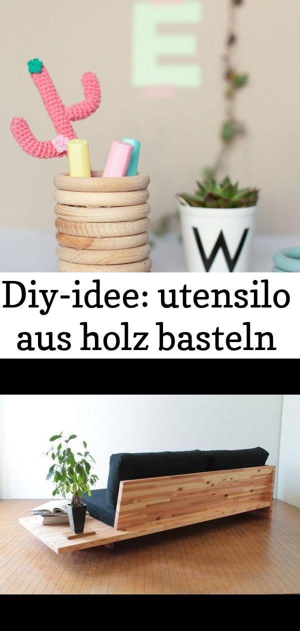 Diy Idea Holzutensilien Basteln Holz Handwerk Diyidee