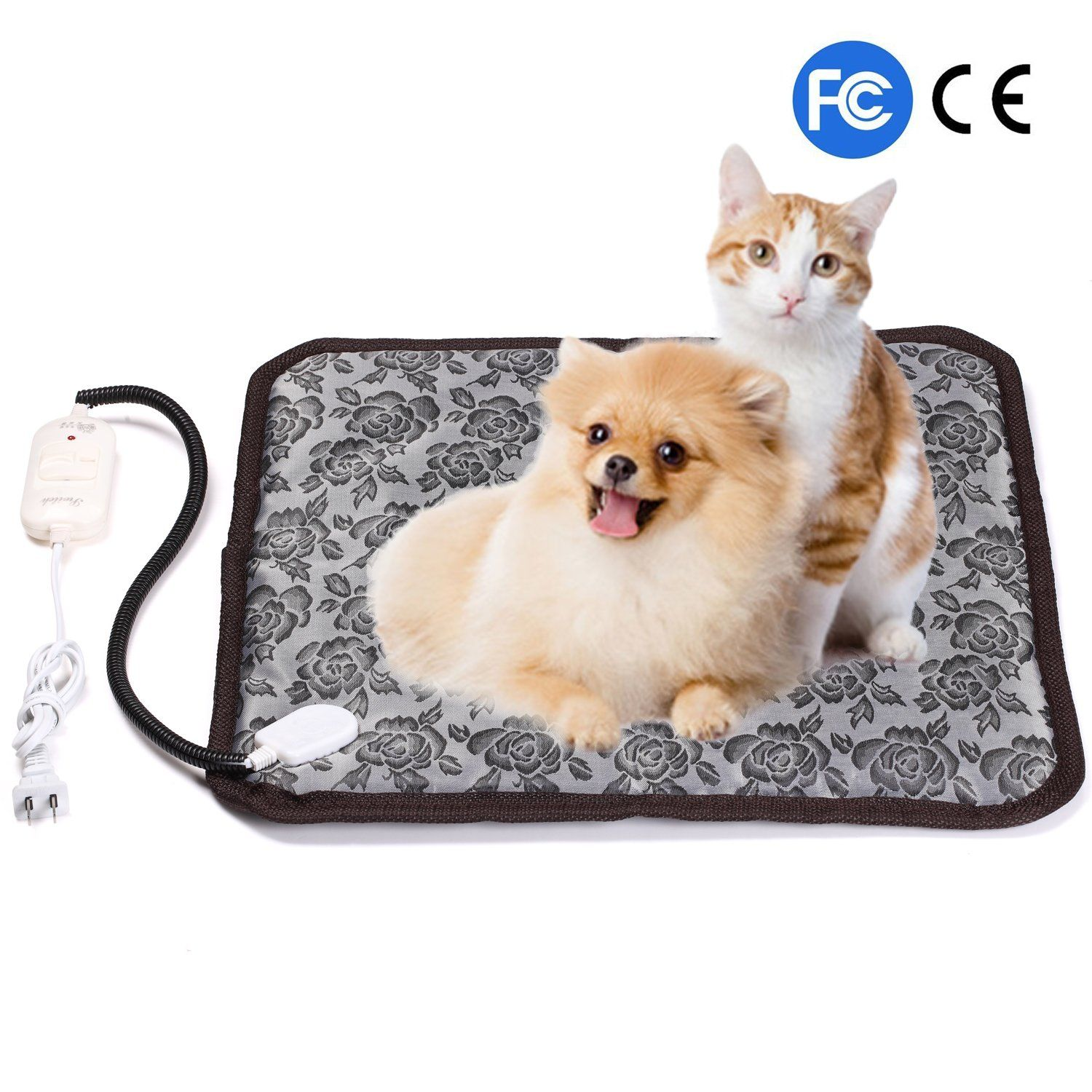 Pet Heating Pad Firow Electric Heated Bed Warming Pad Pet Bed