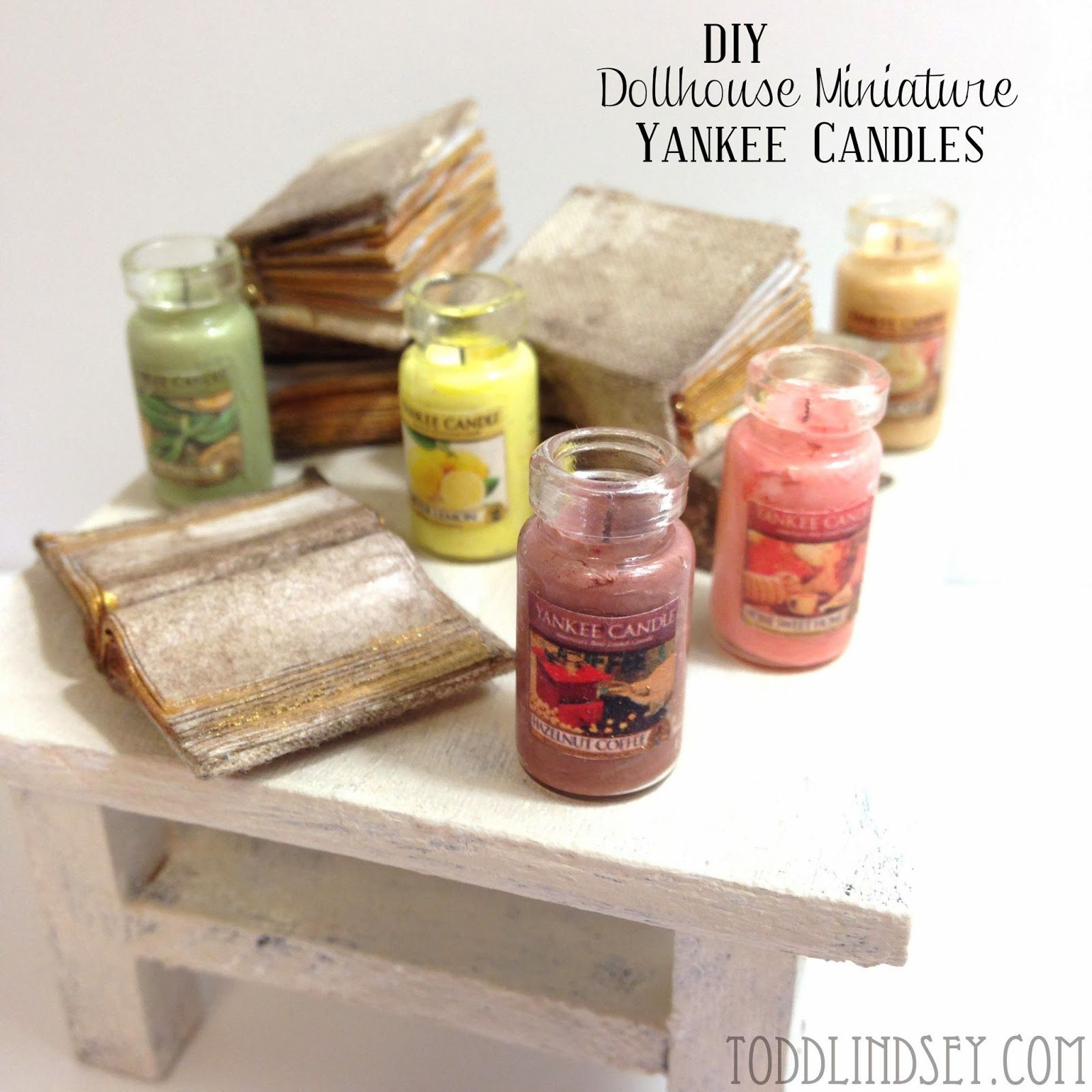 Printable Dollhouse Furniture Patterns Diy Dollhouse Miniature Yankee Candles Mini Things Pinterest