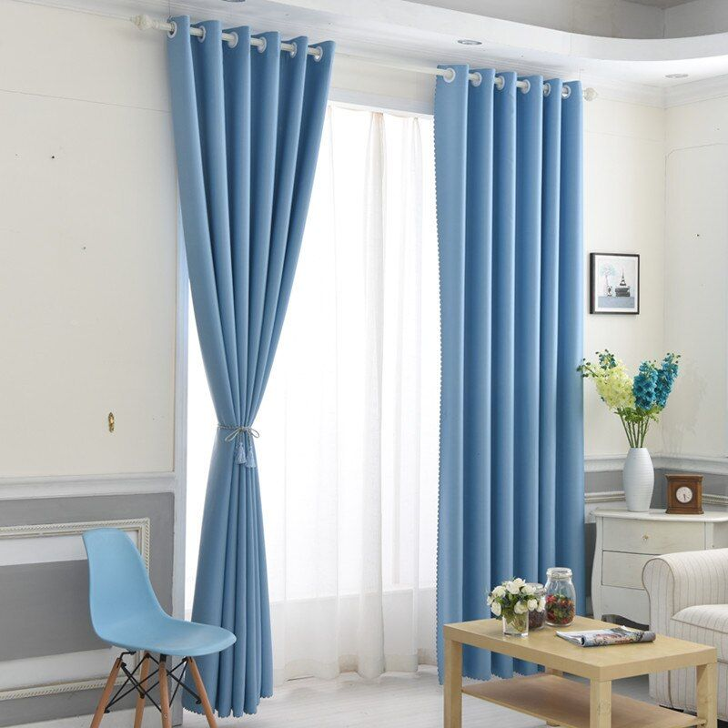 European Style Thickened Single-sided Light Shading Curtains for Living Room Bedroom Balcony Curtain