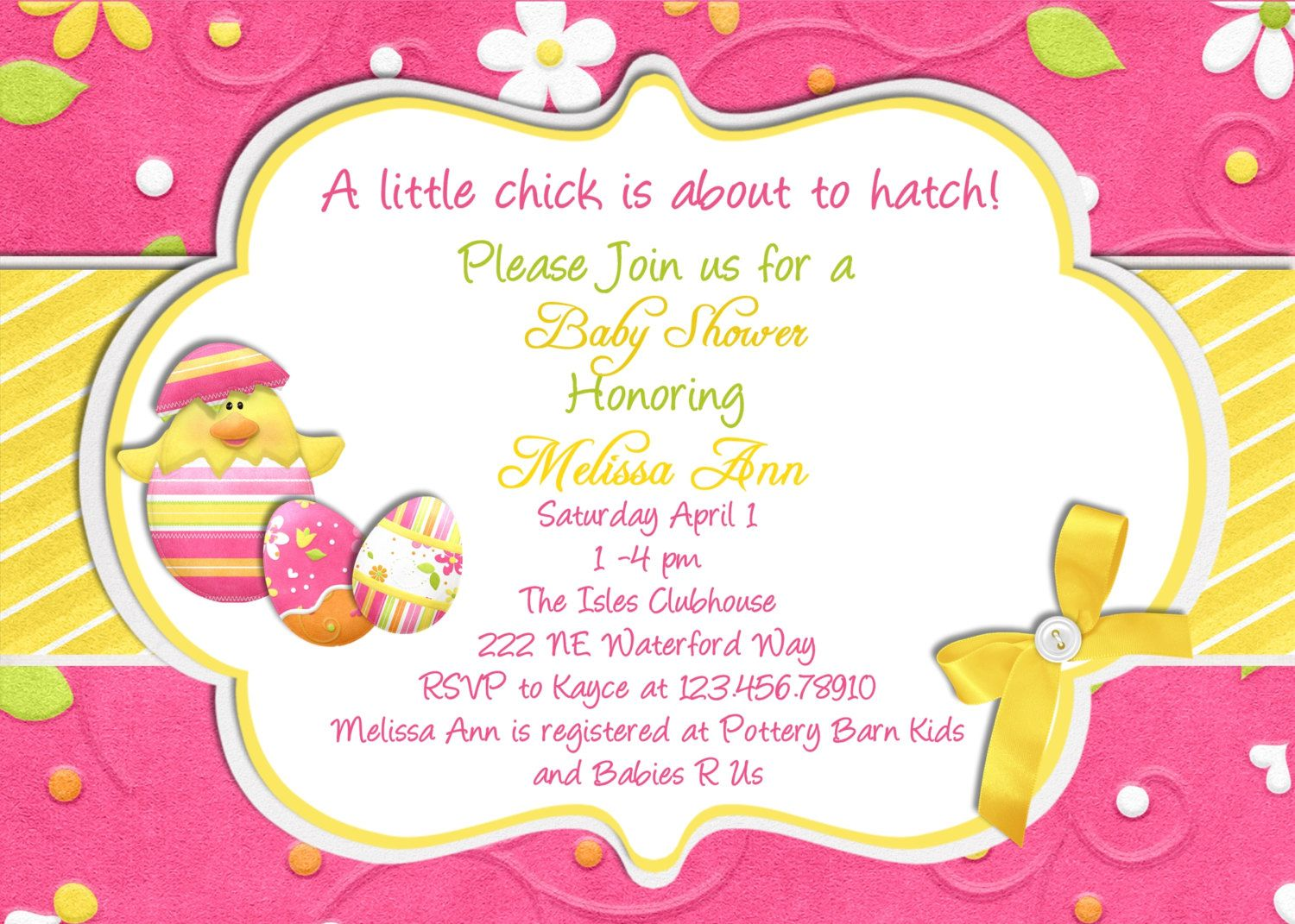 Easter spring baby shower invitation printable and custom invite easter spring baby shower invitation printable and custom invite 1600 via etsy filmwisefo