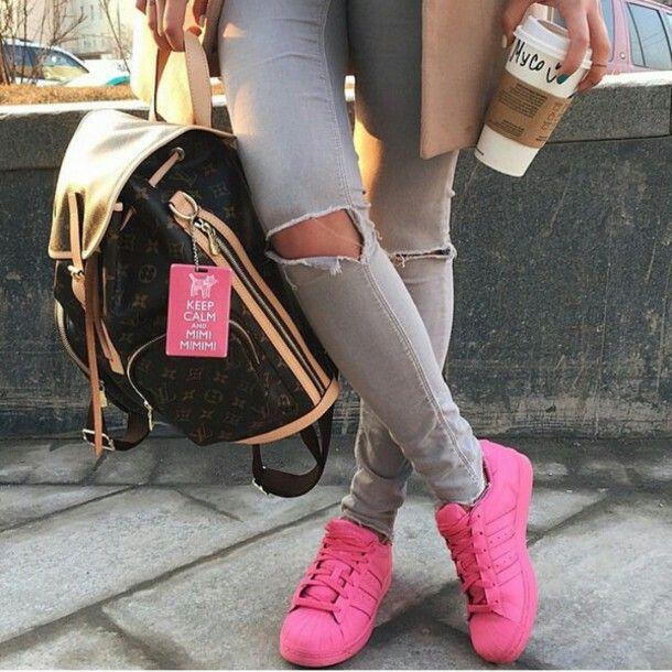 adidas superstar rosa fucsia