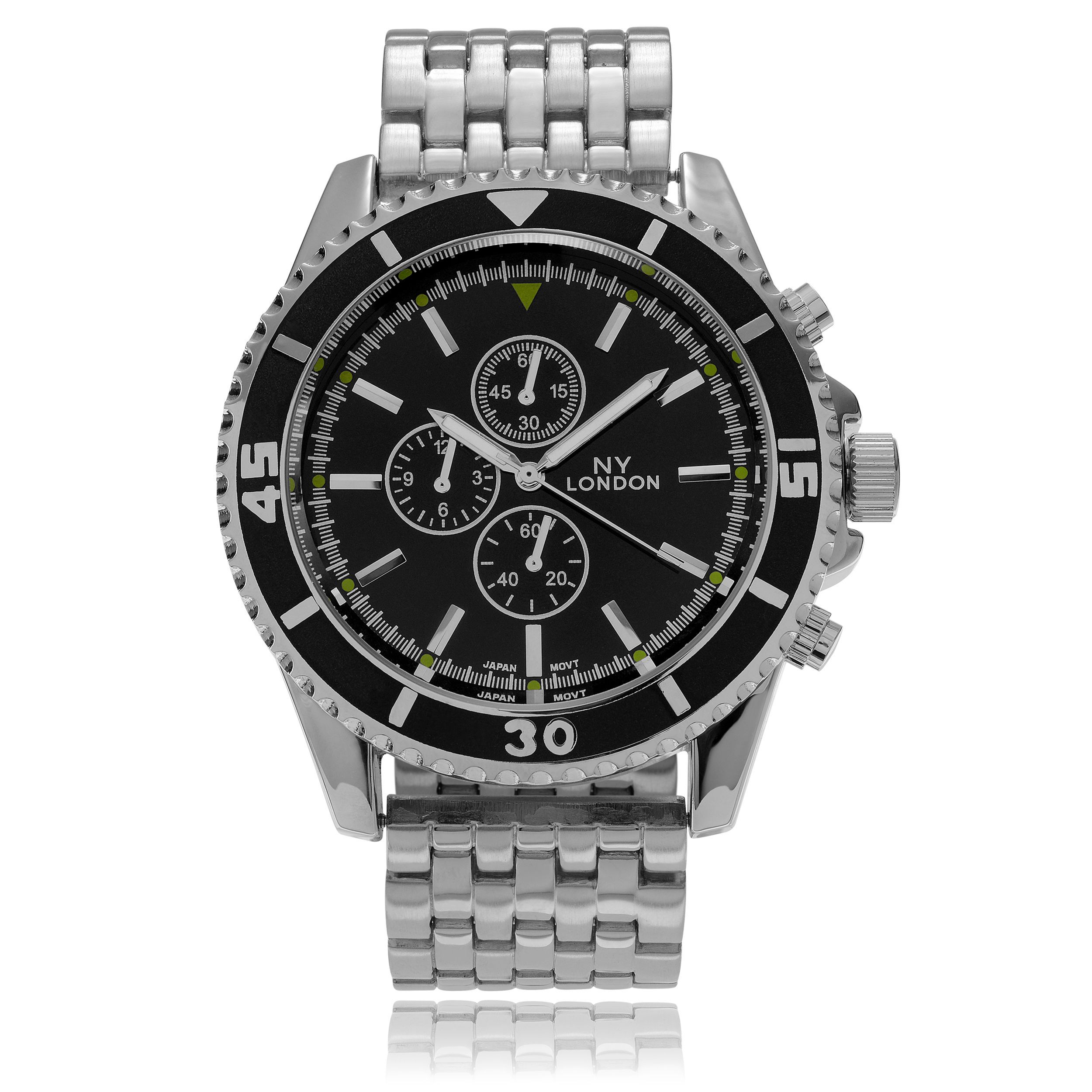 black bracelet mesh with dial gb tachymeter men larsen watches s lars nikolaj mens carbon watch