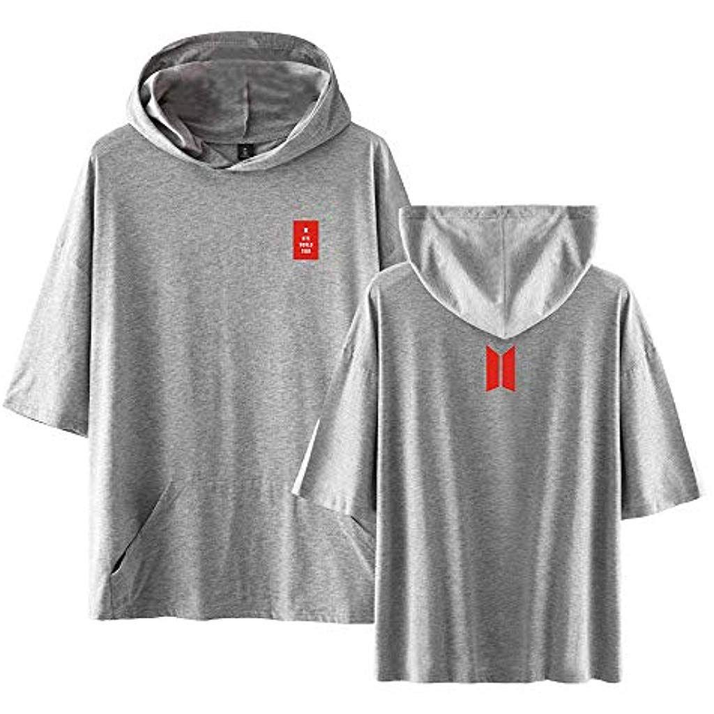 Bts Sweatshirts Bequemer Neuer Trend Digitaldruck Mit Kapuze Pullover Kurzhulse T Shirt Baumwollpullover Unise Sweatshirt Jacke Herren Arbeitskleidung Pullover