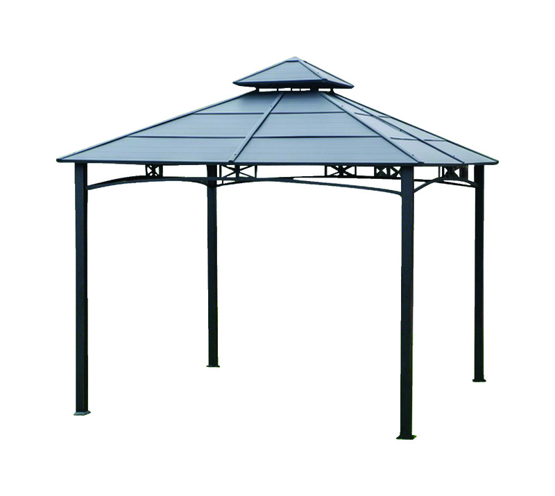 Living Accents Hardtop Gazebo 119.29 in. H x 10 ft. W x 10 ... on Ace Outdoor Living id=39792