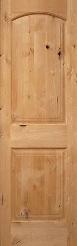 8 0 2 Panel Arch Knotty Alder Interior Wood Door Slabs 32 36 Stained Walnut 199 Knotty Alder Doors Wood Exterior Door Wood Doors