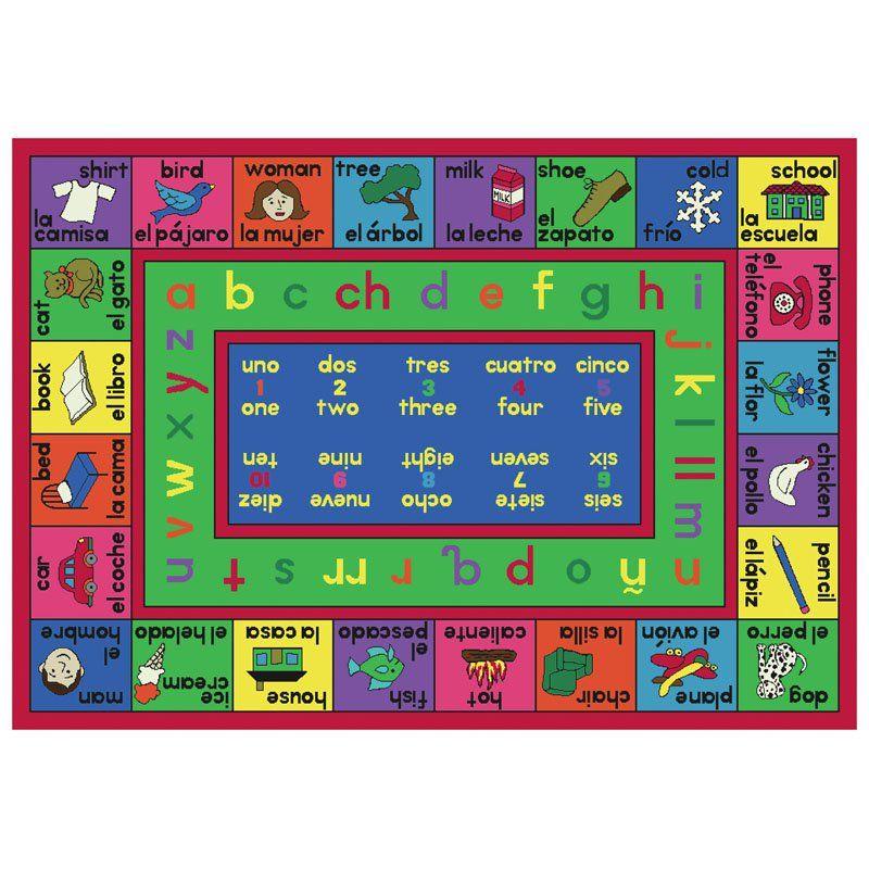 Joy Carpets Lengualink Spanish Kids Area Rug 1412 Dd