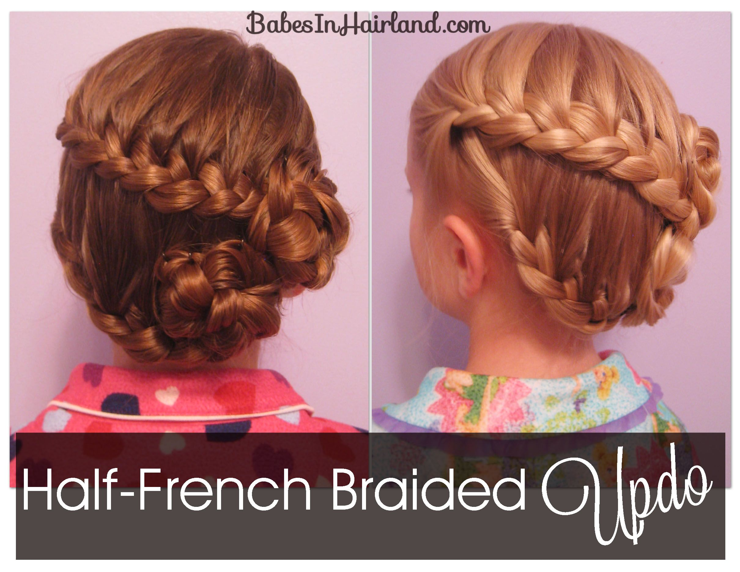 Halffrench braid updo from babes in hairland updo frenchbraids