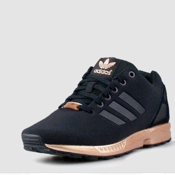 Adidas Zu Flux Torsion black and gold shoes   Black adidas shoes ...