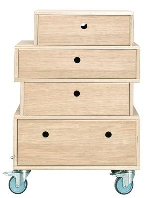 Meuble De Rangement House Doctor Bois Naturel Made In Design Meuble Rangement Meuble A Fabriquer Soi Meme Tiroir
