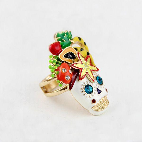 #supercute #brazilian #sugarskull #gift #ring $7.99 CLICK HERE FOR MORE :) www.metalangelfas...