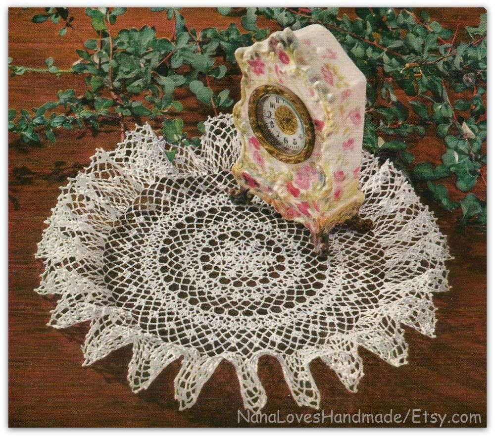 Vintage 1952 ruffled doily crochet pattern book 15 pages by vintage 1952 ruffled doily crochet pattern book 15 pages by nanaloveshandmade on etsy bankloansurffo Image collections