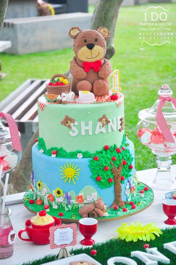 how to make a teddy bear cake from scratch