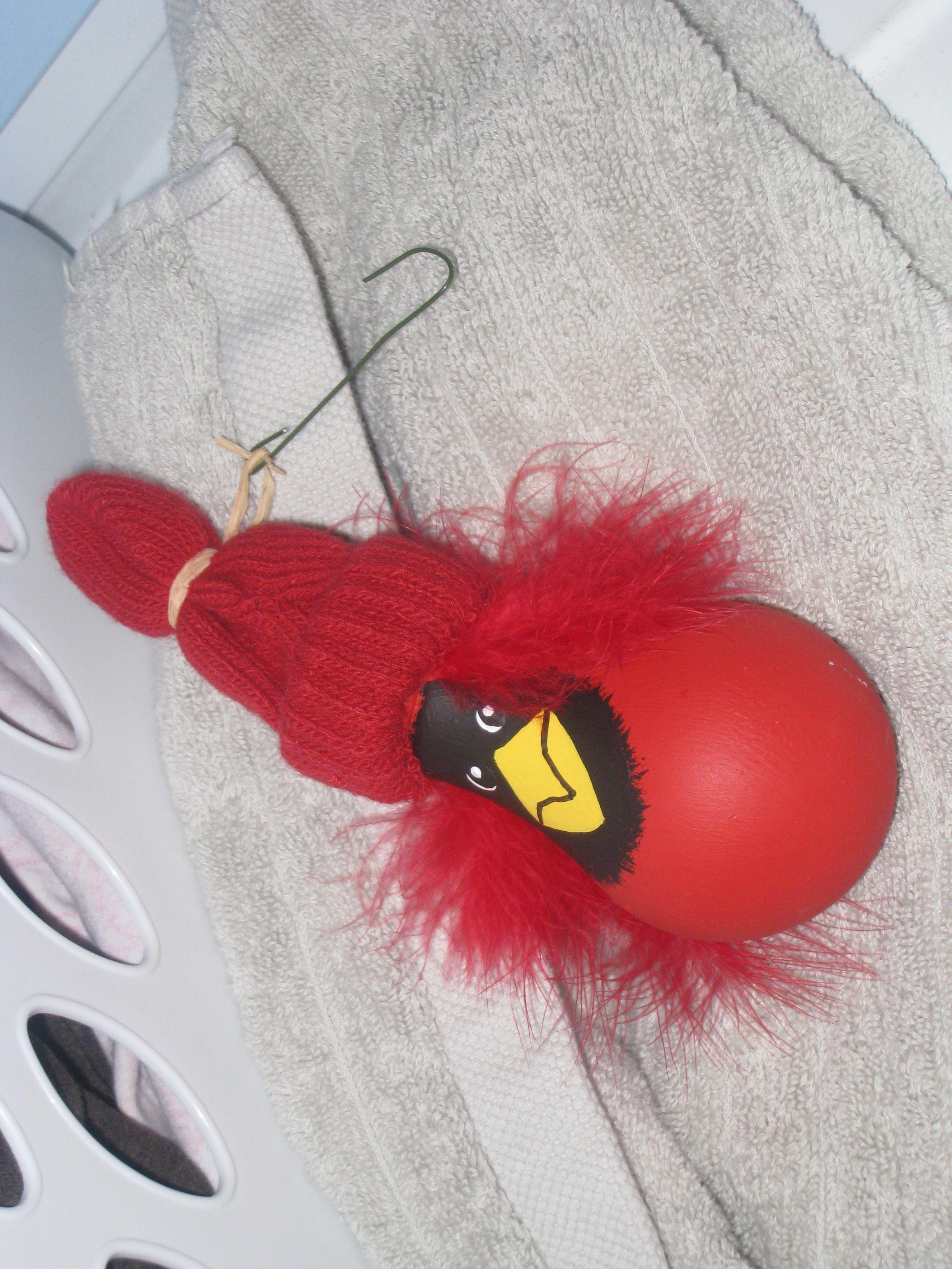 Cardinal light bulb ornament | Crafts - Christmas light bulbs ... for Painted Light Bulb Art  555kxo