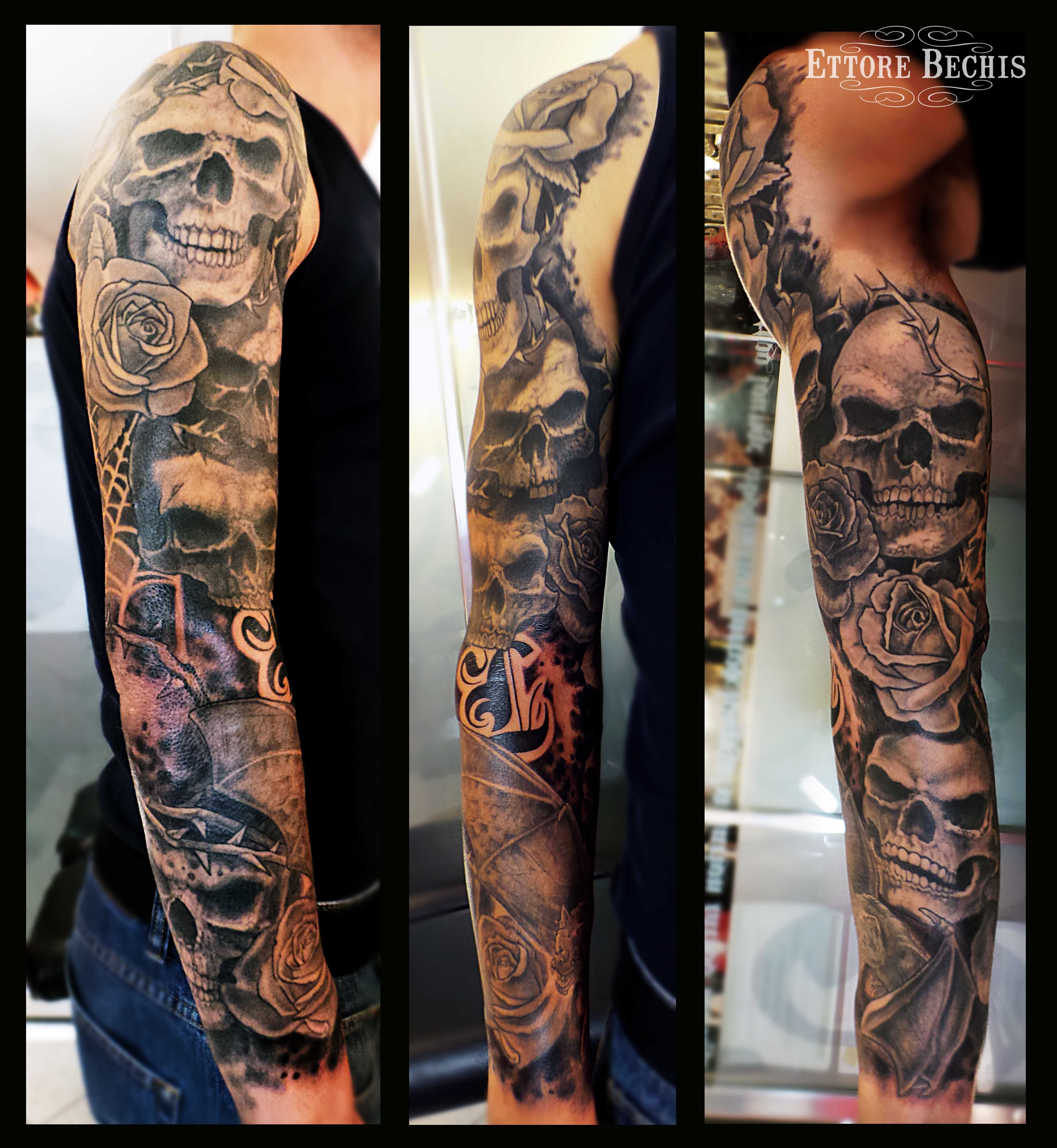 Www.ettore-bechis.com Best Miami Tattoo Shop Skull,miami