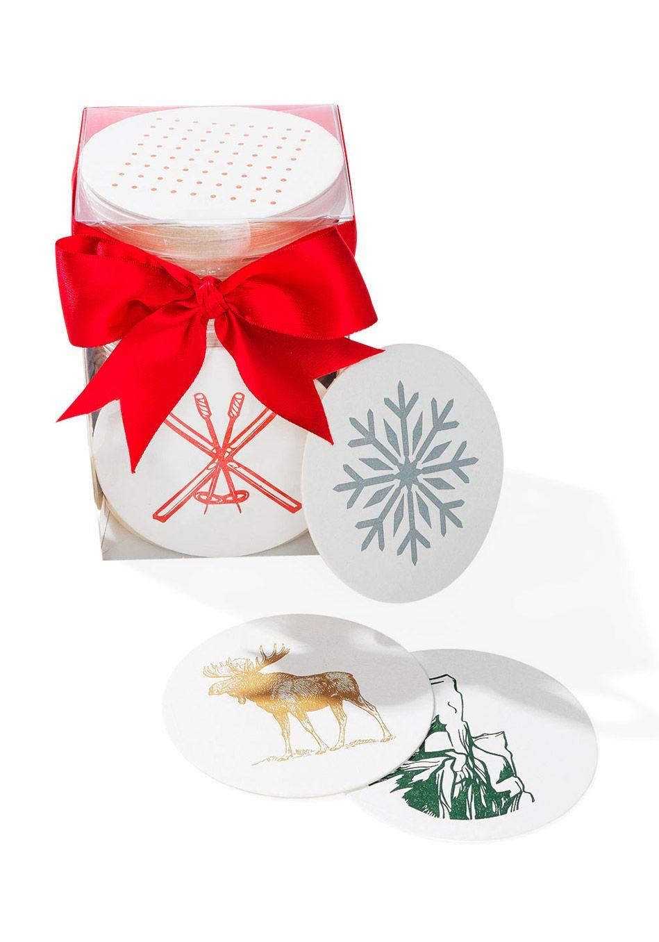 Boxed Letterpressed Coasters | Oprah\'s Favorite Things 2017 | Pinterest