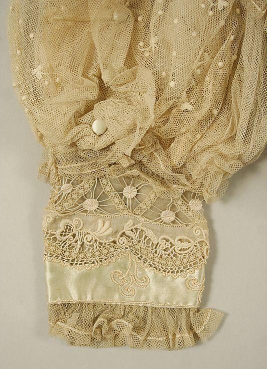Blouse1906 Culture: American or European Medium: cotton, silk