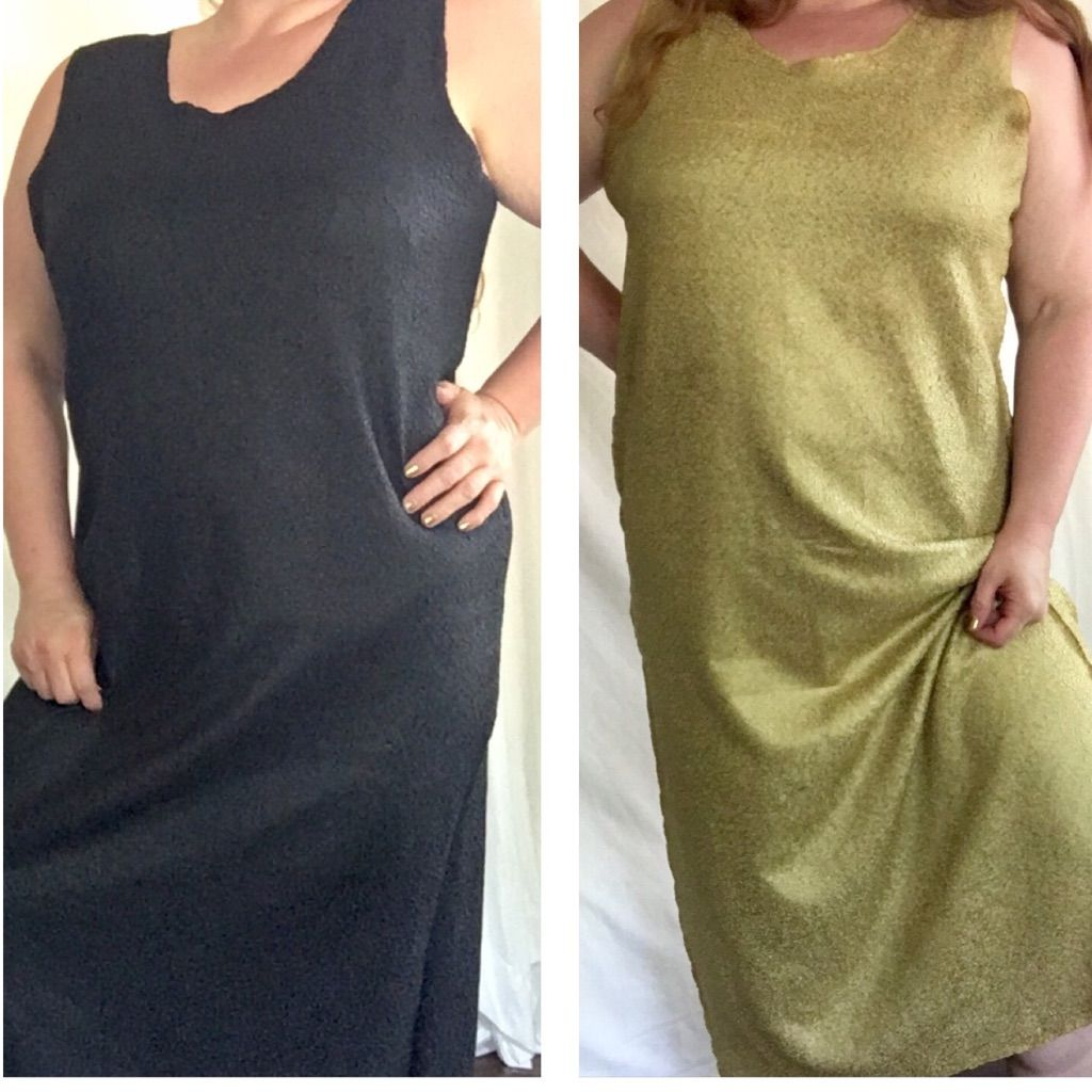 Reversible black u gold plus size dress black gold and products
