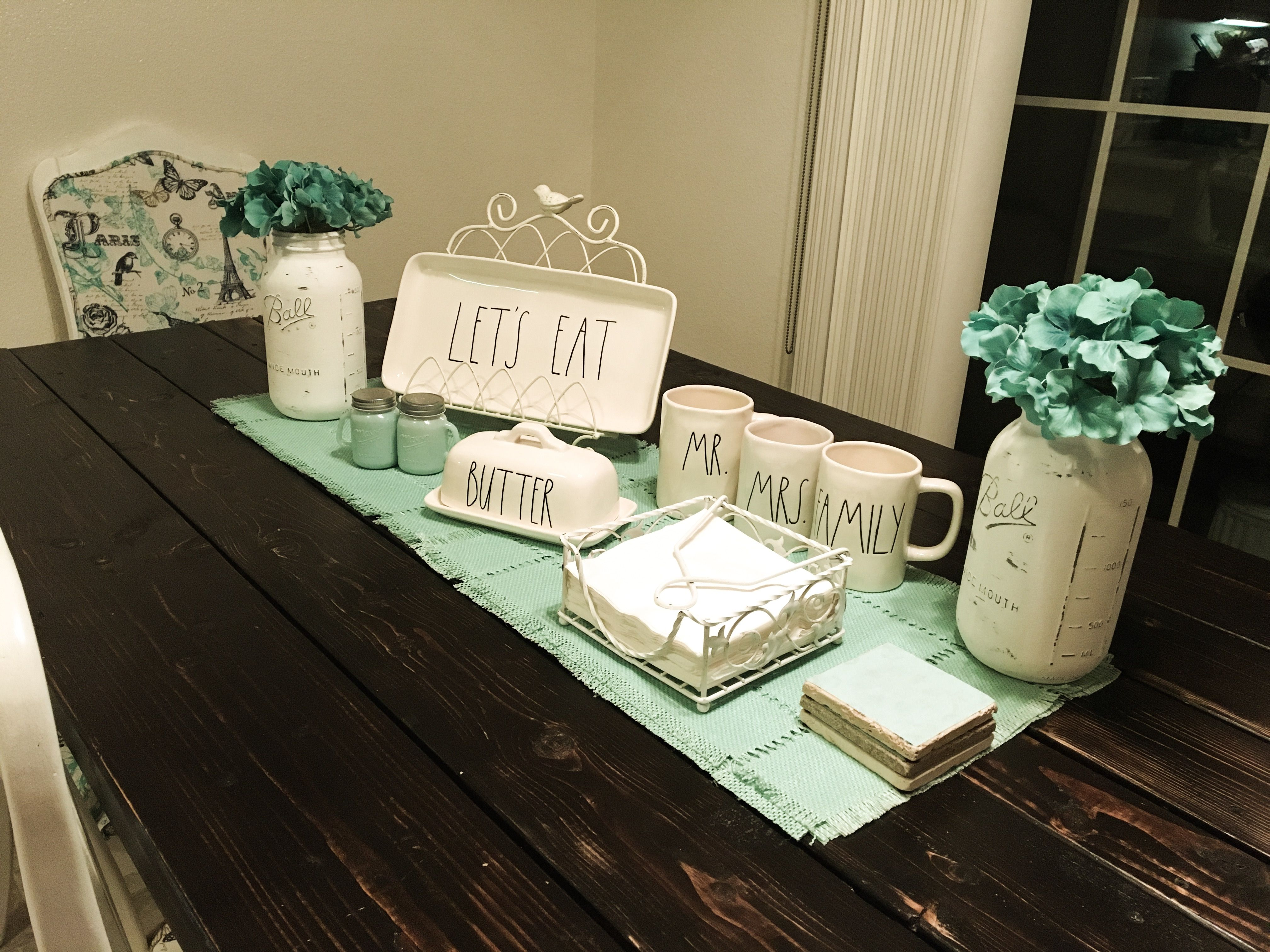 My Table Centerpiece Decor Nice And Refreshing For Spring Summer I Can